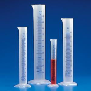 Graduated Cylinder, Blue Molded Graduations, PP