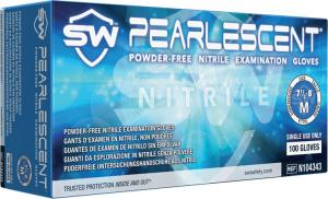 Pearlescent Blue Nitrile Powder-Free Exam Gloves