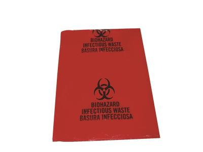 LDPE 1.25 MIL Red Hazmat Bags