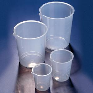 Tapered Sides Beakers with Molded Graduations