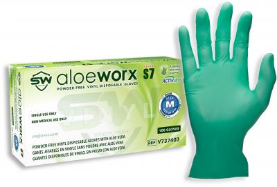 AloeWorx S7 Vinyl Powder-Free Gloves