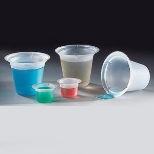 Four Pour Spout Disposable Polystyrene Beakers