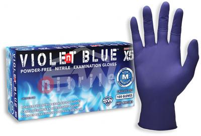 Violent Blue™ X5 Nitrile Powder-Free Exam Gloves