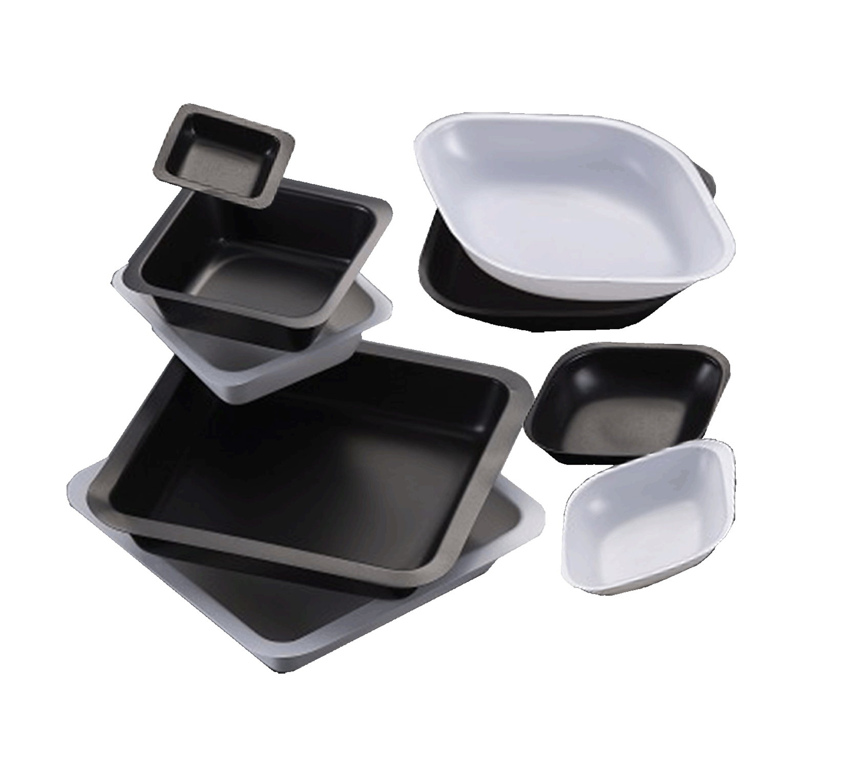 square weigh boat black 45x45mm